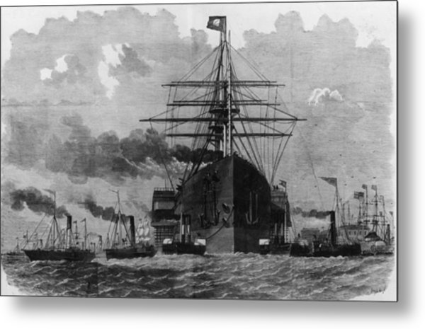 Sail And Steam Metal Print by Hulton Archive
