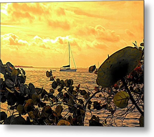 Sail The Manatee River Metal Print
