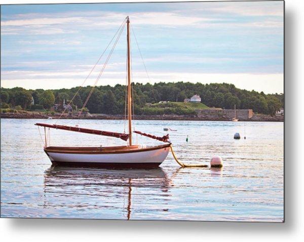 Sailboat At Sunrsie Metal Print by Eric Gendron
