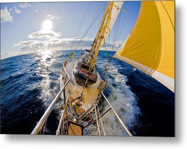 Sailing A Ketch Metal Print by John White Photos