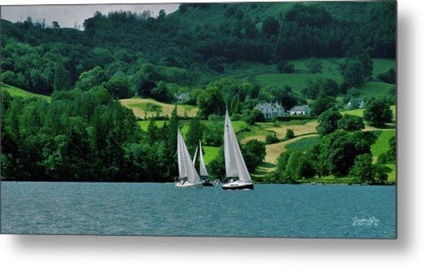 Sailing By Metal Print