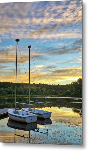 Metal Print featuring the photograph Sailing Lake Waban by Juergen Roth