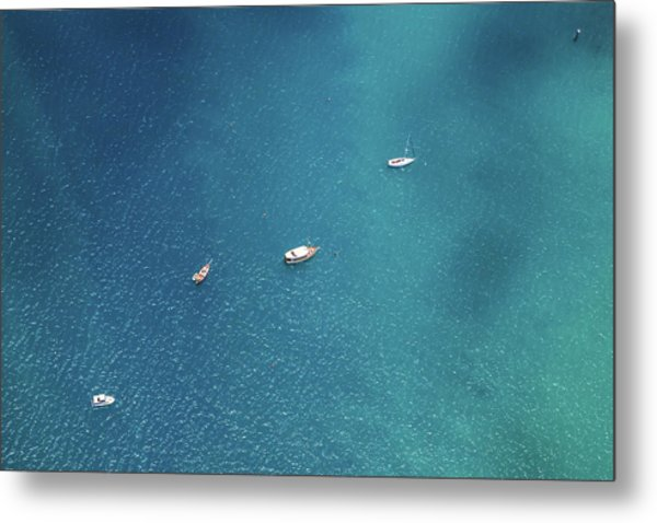 Sailing On The Blue Metal Print