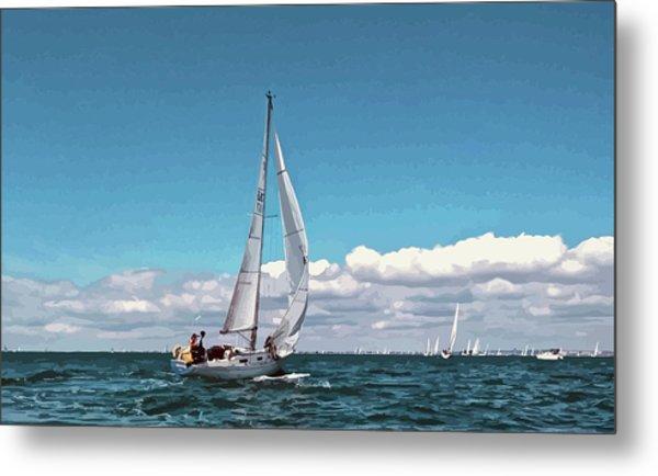 Sailing Regatta On A Brisk Summer's Day Metal Print