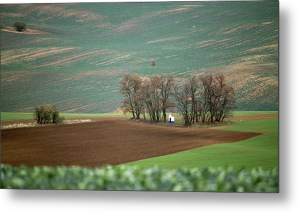 Metal Print featuring the photograph Saint Barbara Chapel, Moravia 17 by Dubi Roman