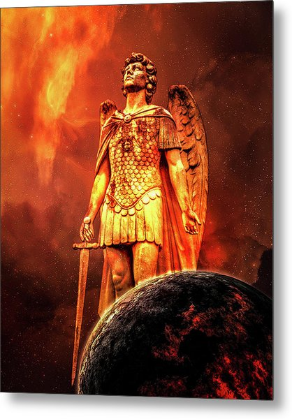 Metal Print featuring the photograph Saint Michael by Michael Arend