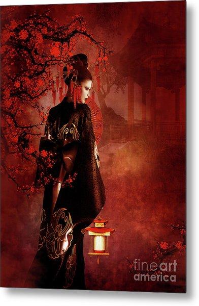 Sakura Red Metal Print