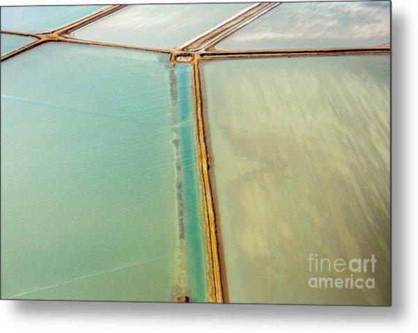Saline Aerial View In Shark Bay Monkey Metal Print