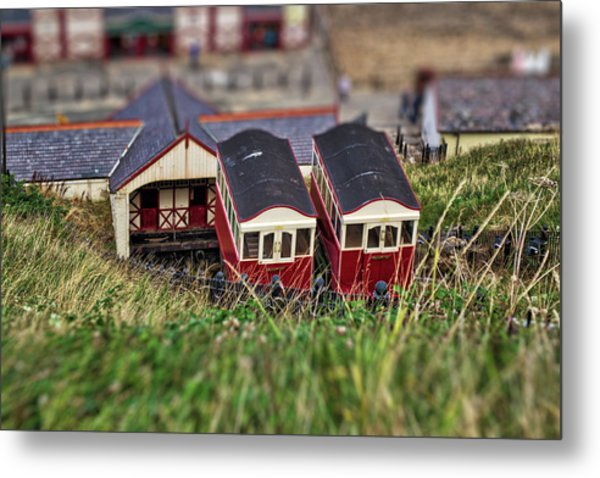 Metal Print featuring the photograph Saltburn Tramway by Scott Lyons