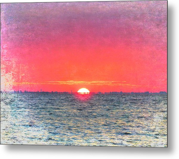 Salty Sunrise Metal Print