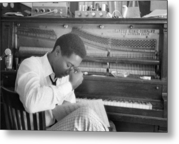 Sam Cooke At The Piano Metal Print by Michael Ochs Archives