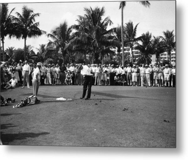 Sam Snead At The Palm Beach Golf Club Metal Print