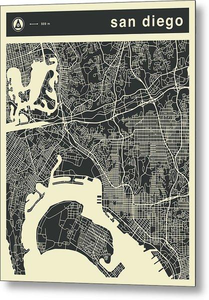 San Diego Map 3 Metal Print