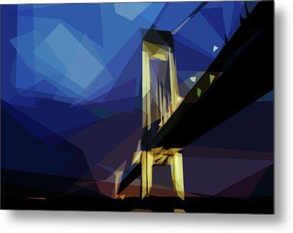 Metal Print featuring the digital art San Francisco Bridge by ISAW Company
