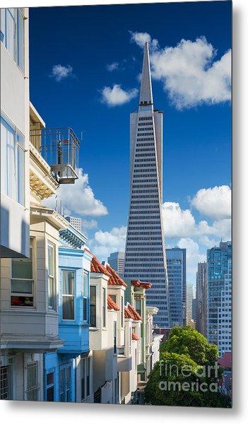 San Francisco Downtown. Famous Typical Metal Print