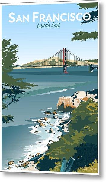 San Francisco Lands End Metal Print