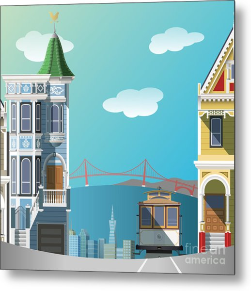 San Francisco Landscape Metal Print by Nikola Knezevic