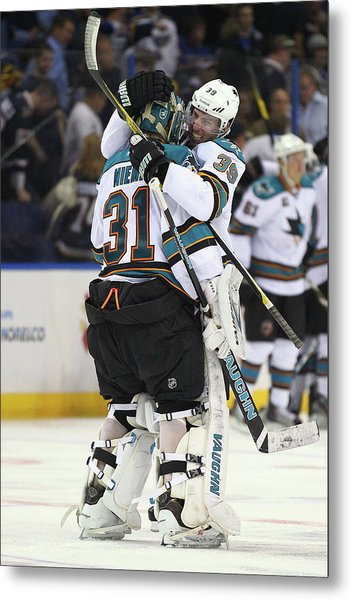San Jose Sharks V St. Louis Blues - Metal Print by Dilip Vishwanat