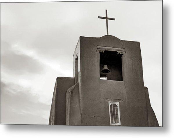 San Miguel Mission Chapel - Santa Fe New Mexico In Classic Sepia Metal Print