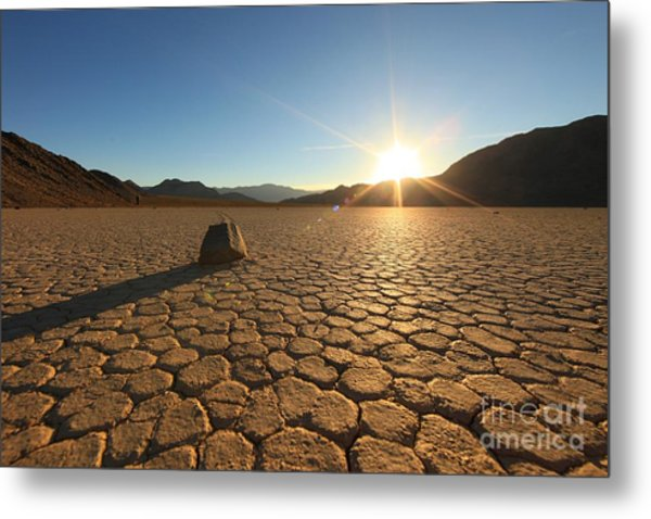 Sand Dune Formations In Death Valley Metal Print