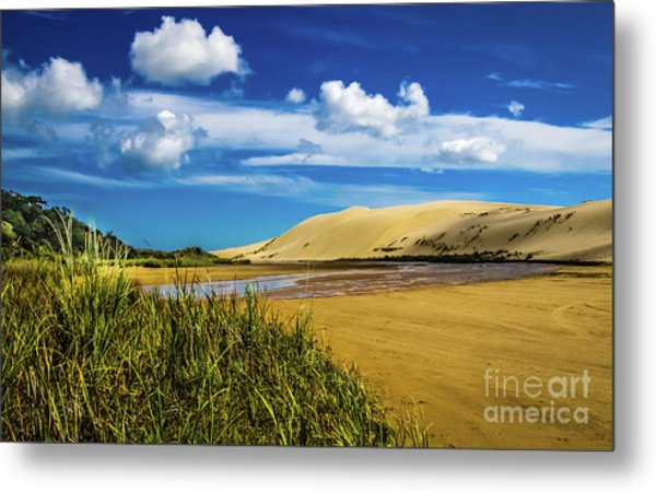 90 Miles Beach, New Zealand Metal Print