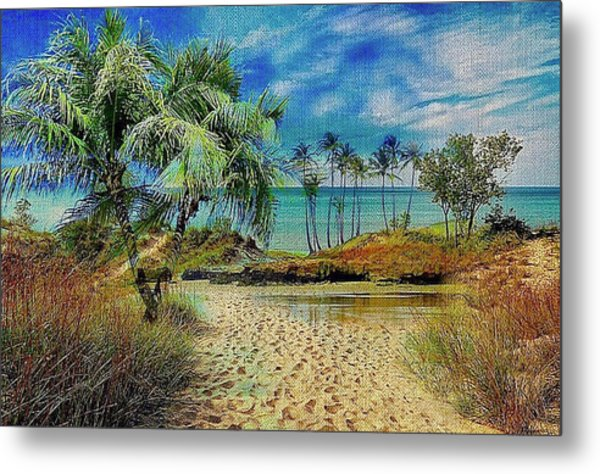 Sand To The Shore Montage Metal Print