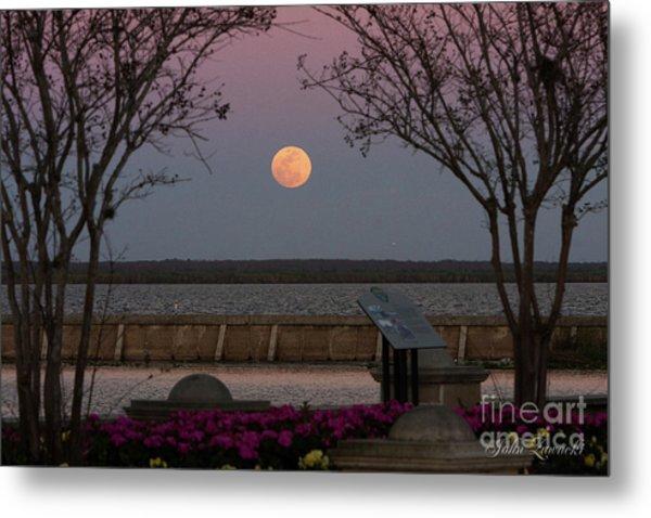 Sanford Riverwalk-moonrise-9395 Metal Print