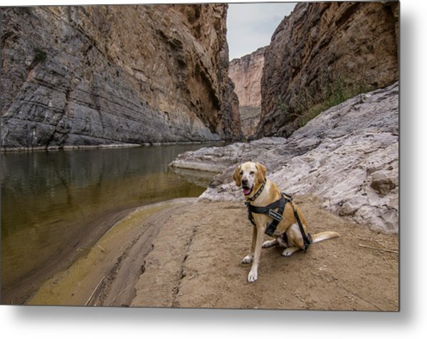 Metal Print featuring the photograph Santa Elena Canyon by Matthew Irvin