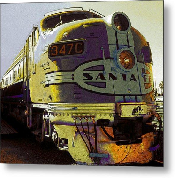 Santa Fe Railroad 347c - Digital Artwork Metal Print