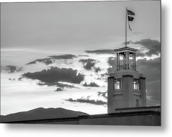 Santa Fe Sunrise - Bataan Memorial - New Mexico Monochrome Metal Print