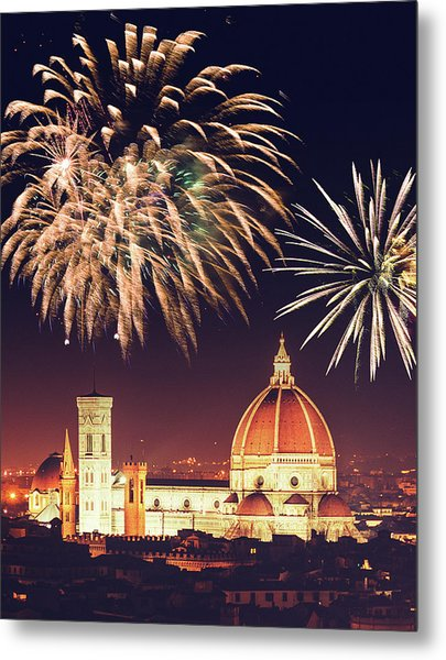 Santa Maria Del Fiore Dome In Florence Metal Print by Franckreporter