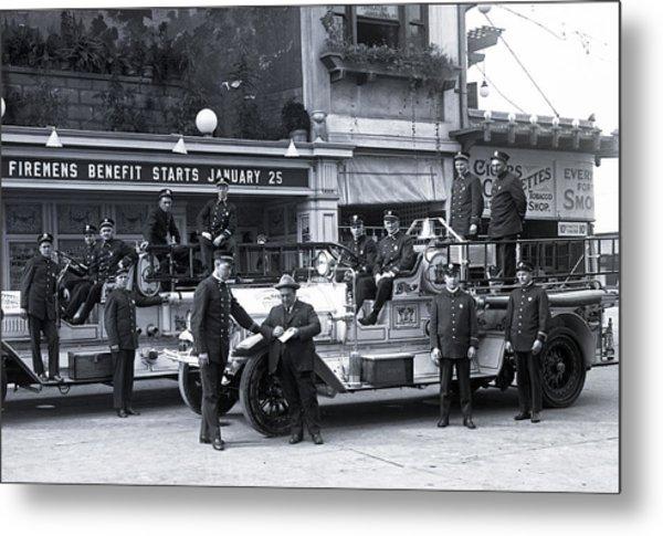 Santa Monica Firemen 1920 Metal Print