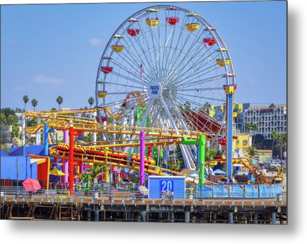 Santa Monica Pier Ferris Wheel Metal Print