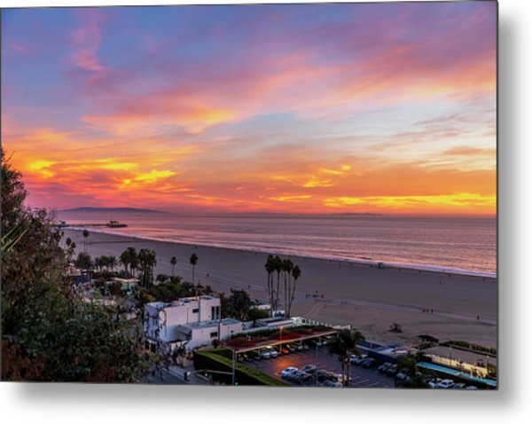 Santa Monica Pier Sunset - 11.1.18  Metal Print