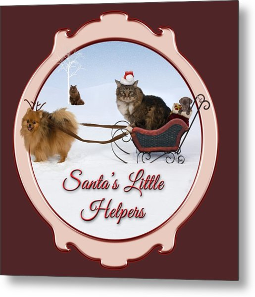 Santa's Little Helpers Metal Print