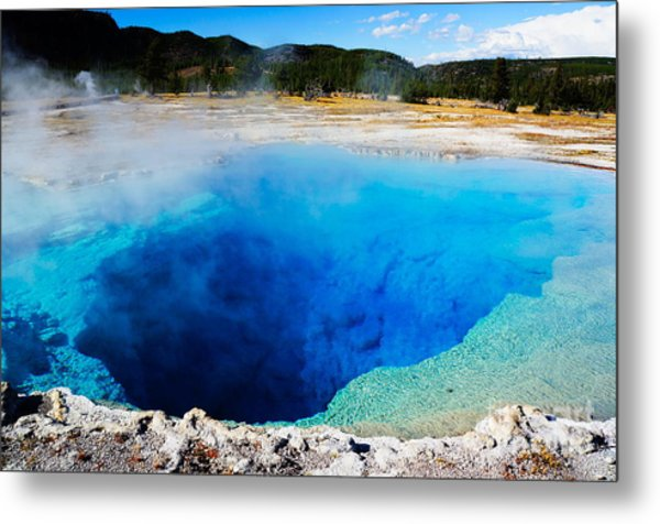 Sapphire Pool,yellowstone National Metal Print by Wizard8492