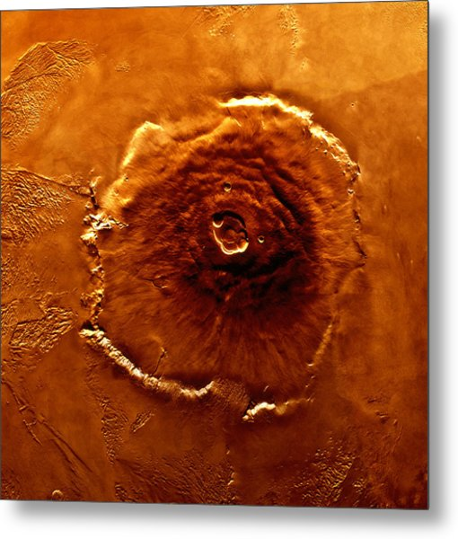 Satellite Image Of Olympus Mons Metal Print by World Perspectives