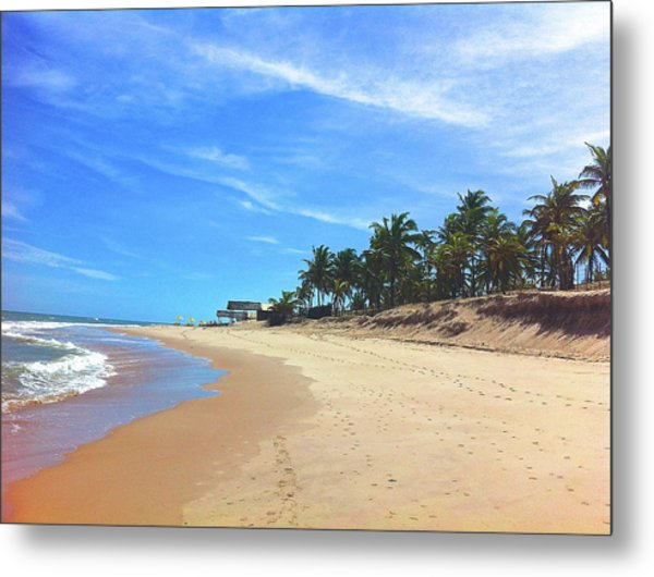 Sauipe Beach - Boxing Day Metal Print by Adrian R Walmsley