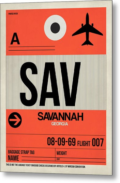 Sav Savannah Luggage Tag I Metal Print