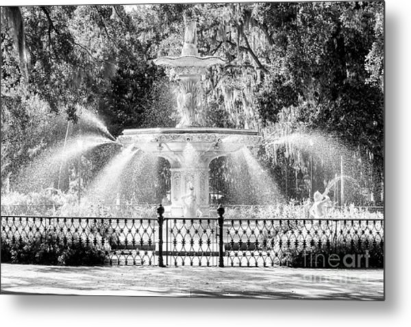 Savannah Forsyth Park Fountain Metal Print