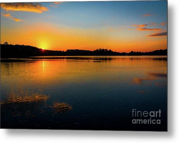 Savannah River Sunrise - Augusta Ga Metal Print