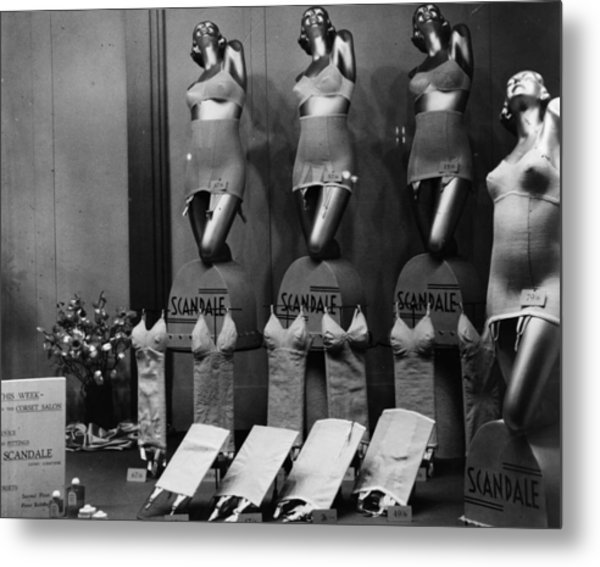 Scandale Corsets Metal Print by Hulton Archive