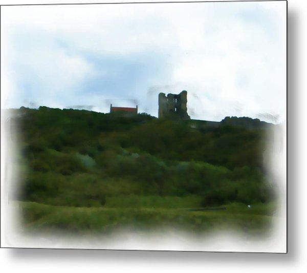 Scarborough Castle Painting Metal Print