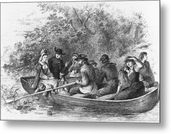 Scene From Longfellows Evangeline Metal Print by Kean Collection