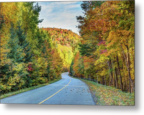 Metal Print featuring the photograph Scenic Drive In Autumn by Pierre Leclerc Photography