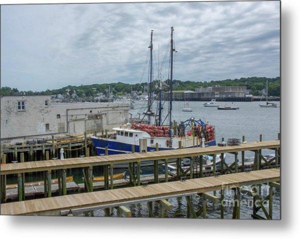 Scenic Harbor Metal Print