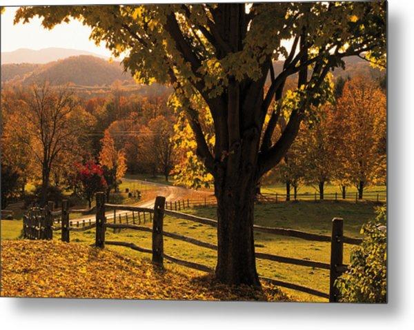Scenic Ranch In Autumn , Woodstock Metal Print