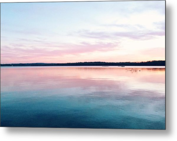 Scenic View Of Calm Sea Against Cloudy Metal Print by Thomas Weng / Eyeem