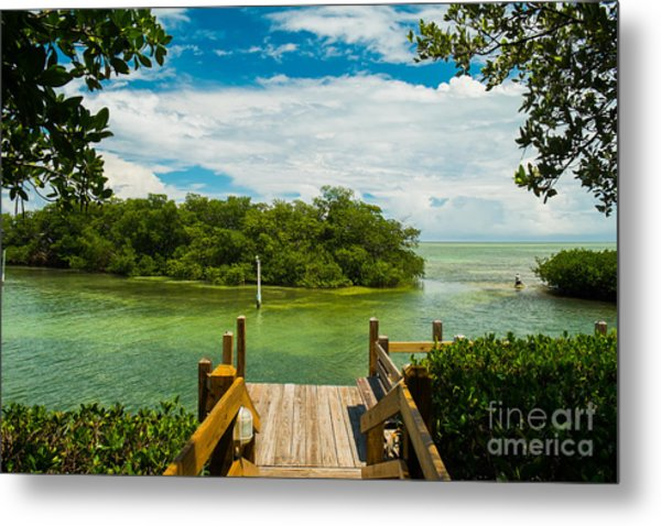 Scenic View Of The Florida Keys With Metal Print