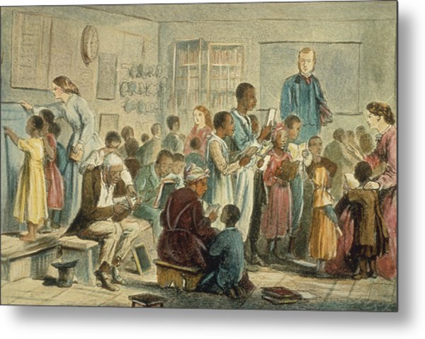 School For Slaves Metal Print by Fotosearch